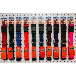 "AK-9 Nylon Adjustable Collar 1 x 17-26"" -BLACK"