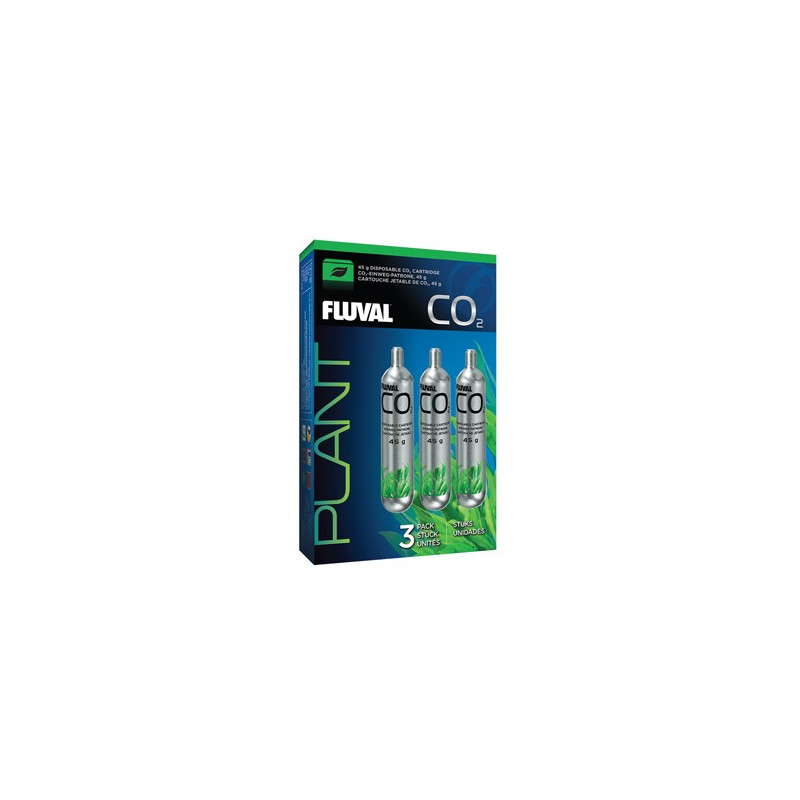 Fluval 45 g CO2 Disposable Cartridges - 3 pack