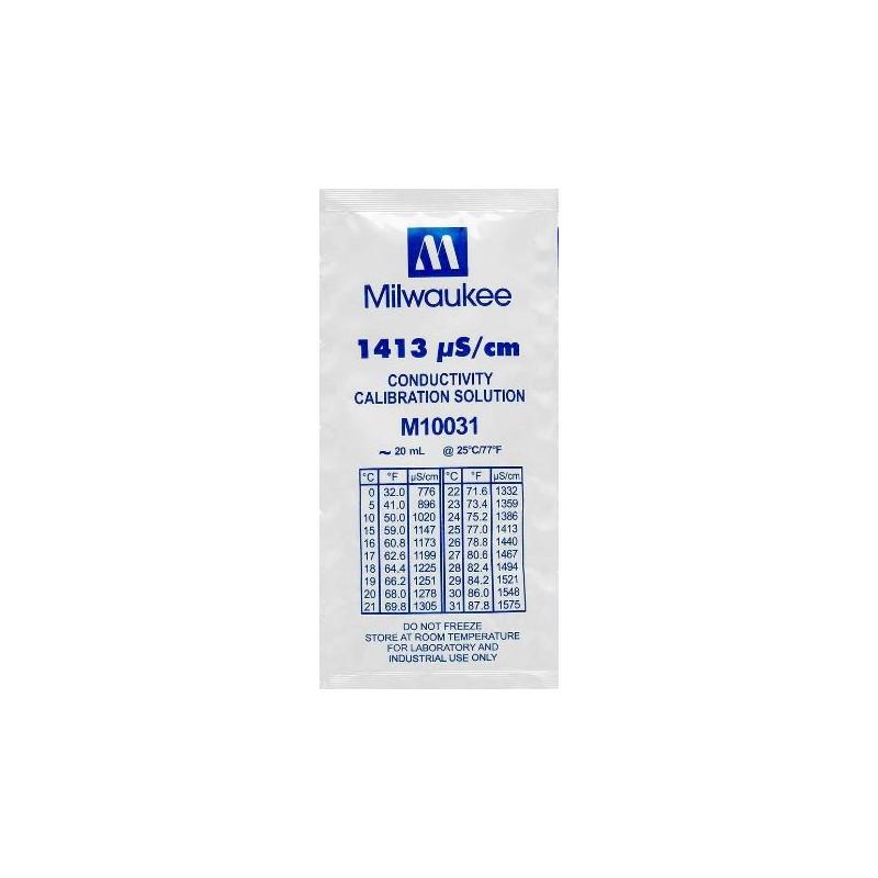Milwaukee 1413 µS/cm Conductivity Calibration Solution - 20ml